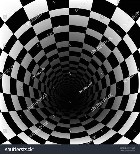 Checkerboard Background With Perspective Effect Stock