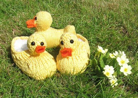 Children's Rubber Duck (Ducky) Slippers and Toy Knitting