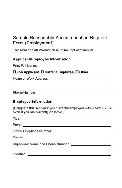 FREE 34+ Accommodation Request Forms in PDF | MS Word | Excel