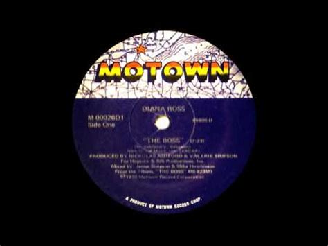 Diana Ross - The Boss (Motown Records 1979) - YouTube